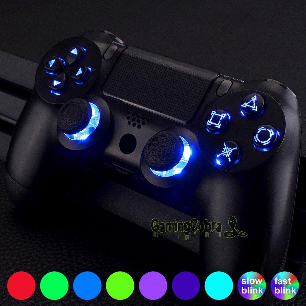 Multi-couleurs Luminated D-pad Thumbsticks Boutons de Face (DTF) LED Kit pour PS4 Contrôleur Touch Control-P4SJ0001GC