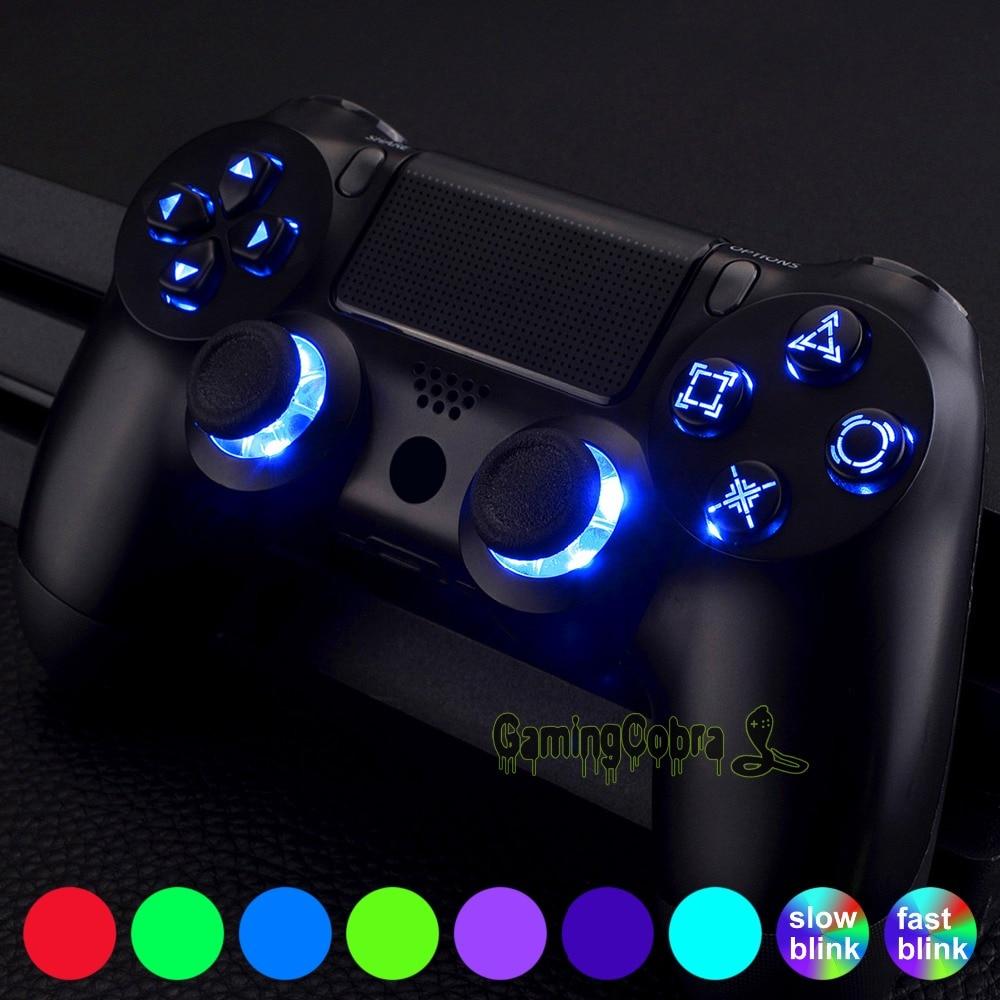 Multi-couleurs Luminated d-pad miniatures boutons de visage (DTF) Kit de LED pour PS4 contrôleur contrôle tactile-P4SJ0001GC