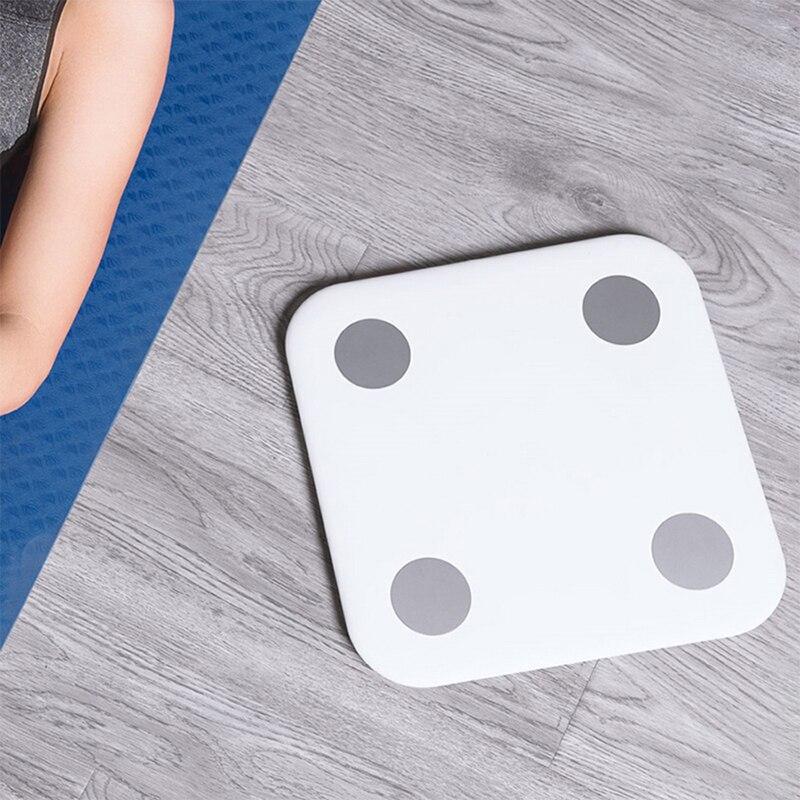 Original Xiaomi mi composición corporal escala caliente mi inteligente grasa corporal Escala electrónica personal escala 5 kg-150 kg de cuadrado blanco - 3