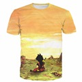 Recentes Hipster 3D camiseta Dragon Ball Z Super Saiyan t tshirts camisas Garoto Goku e Cópias do Cenário Do Por Do Sol Das Mulheres Dos Homens de Verão Tees