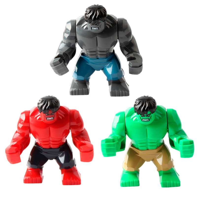 diy Anime Super Hero PVC Action Figureling 7.5cm The Red Hulk Figures Toys Character for Children Christmas Gift Brinquedos