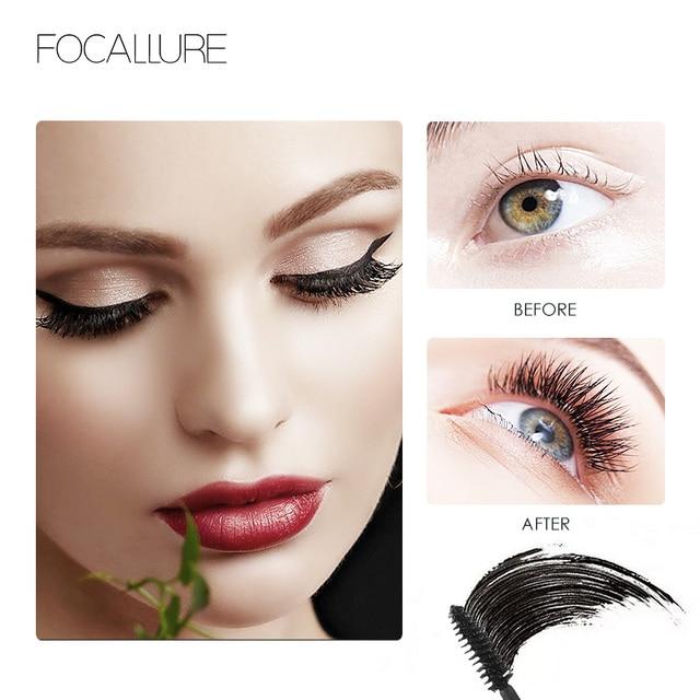 FOCALLURE Professional 3D Black Volume Curling Makeup Waterproof Thick Lengthening Eyes Beauty Makeup 2