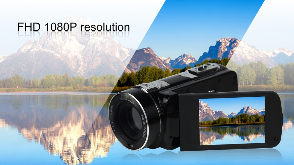 """FHD 1080P Digital Video Camera fotografica Camcorder MP 3"""" Screen External Battery Support SD Card with HDMI Output filmadora 6"""