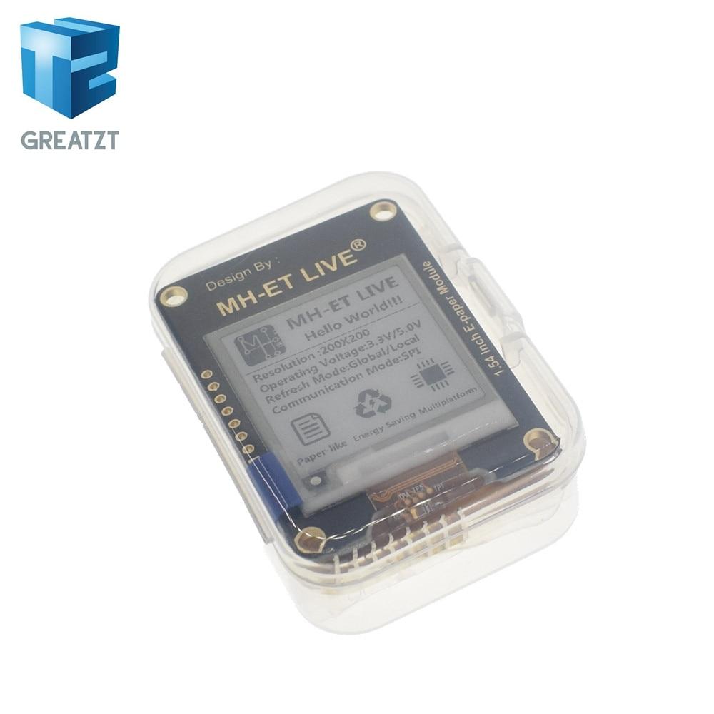 GREATZT 1.54 pouce Epaper Module E-papier E-Encre D'affichage EInk Écran SPI Global Support/Partie Pour arduino STM framboise pi ESP32