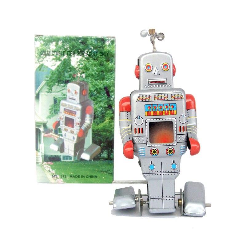 Rare Collection Nostalgia Tin Wind Up Toys MS372 Robot Toys