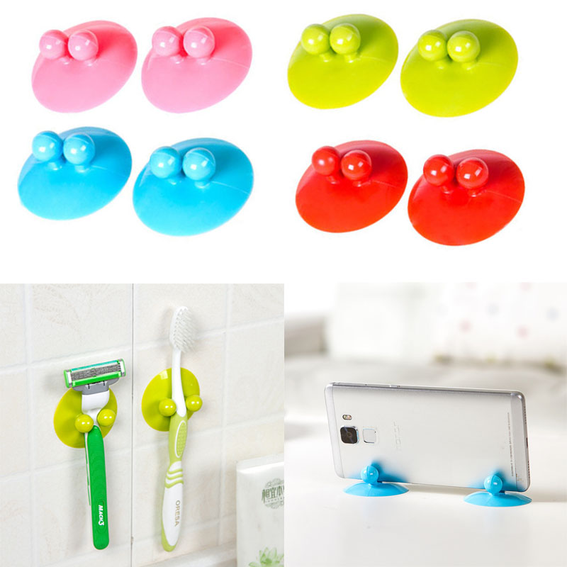 Kitchen Popular Storage Hook Hanger Hook High Quality Silicone Bathroom New 2PCS/Set Suckers Hook Home Supplies Multifunction