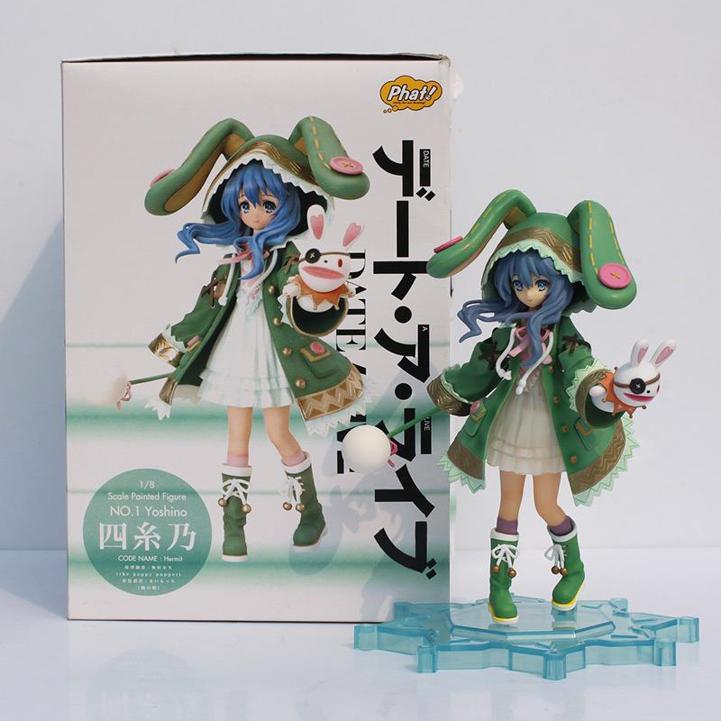 1pc Anime Date A Live Yoshino Hermit PVC figure toy beautiful fairy doll model for collection Free shipping dating war date a live yoshino hermit pvc action figure model toy retail
