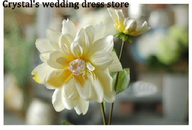 Free shipping 2011 Newest Hot.Silk/Simulation/Artificial flower Camellia Romantic,Super Dahlia White Wedding/Bridal bouquet,BO37