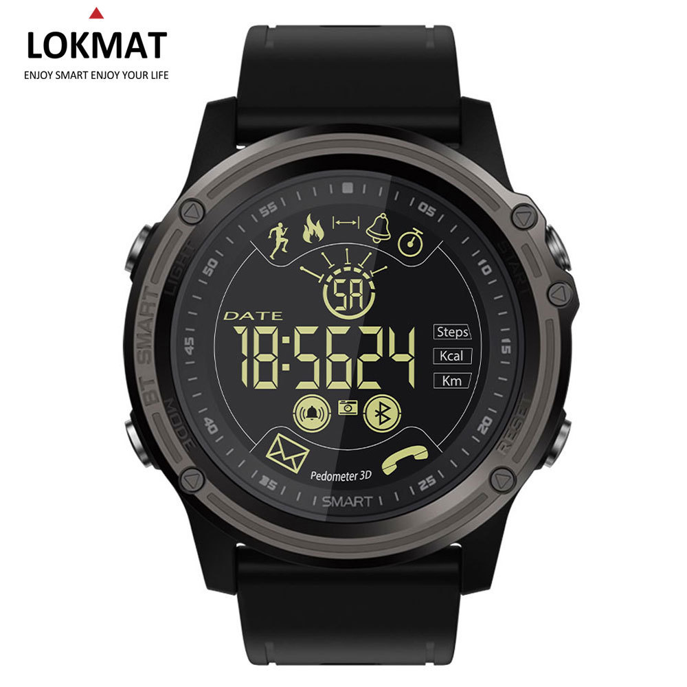 LOKMAT Smart Watch Sport Pedometer Waterproof IP68 Bluetooth Men Digital Clock Call Reminder SmartWatch For ios Android Phone smart watch men women sports watches waterproof bluetooth smartwatch pedometer call reminder fitness track clock for android ios