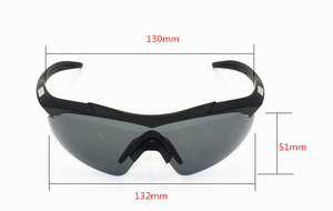 Image 5 - 2020 3 lens 2mm thickness Military Goggles  Sunglasses Men Bullet proof Army Tactical Glasses shooting Eyewear