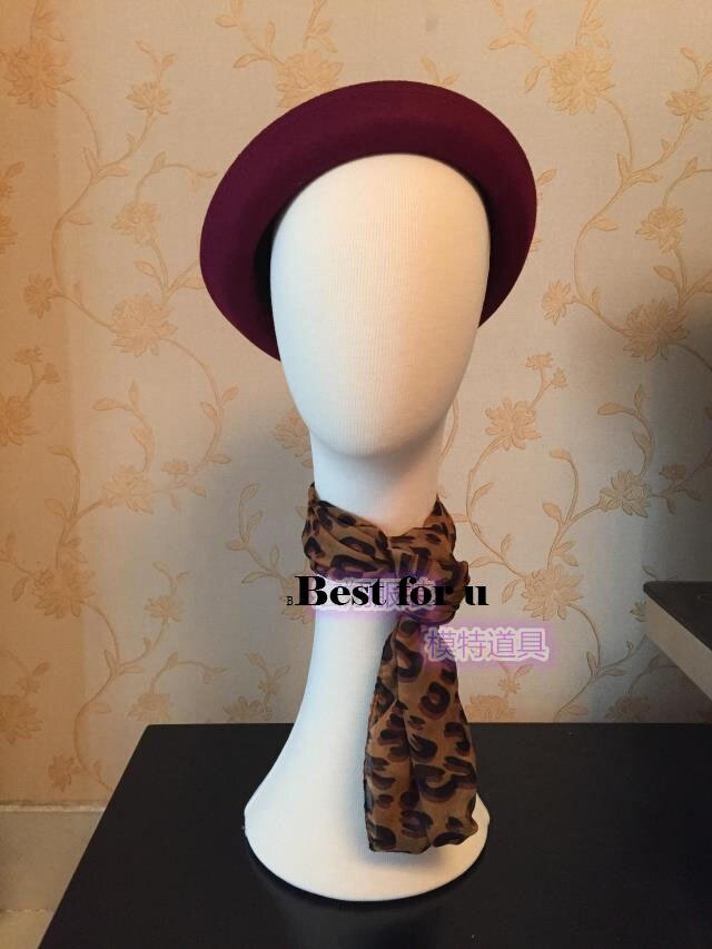Livraison gratuite!! Mannequin de tête de Mannequin de tête de tissu de nouveauté pour le chapeau et l'écharpe en vente