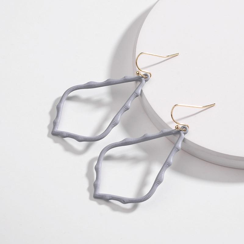15 Colors Designer Frame Teardrop Earrings for Women Fashion Jewelry Painting Metal Water Drop Earrings Statement Earrings 21