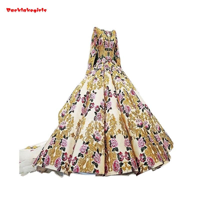 Nett 41106 Kurzarm Modest Hochzeit Kleid Mit Gold Gewinde Stickerei Lange Schwanz Hochzeit Braut Kleid Brautkleider