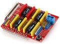 Frete grátis! 5 PÇS/LOTE Novo v3 escudo cnc gravura machine/3D Impressora/A4988 driver placa de expansão forarduino