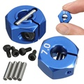 RC Blue Aluminum Alloy 7.0 Wheel Hex 12mm Drive 4P HSP HPI Tamiya Car For All 1:10 RC Car Tire Parts