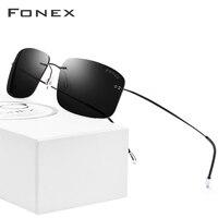 Rimless Polarized Sunglasses Men Ultralight 2018 Hot Ultra Light Screwless Frameless Square Sun Glasses for Women Titanium Alloy