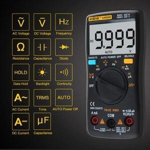 AN8008 True-RMS Digital-Multimeter 9999 zählt Platz Welle Hintergrundbeleuchtung AC DC Spannung Amperemeter Strom Elektrische multi Power Meter