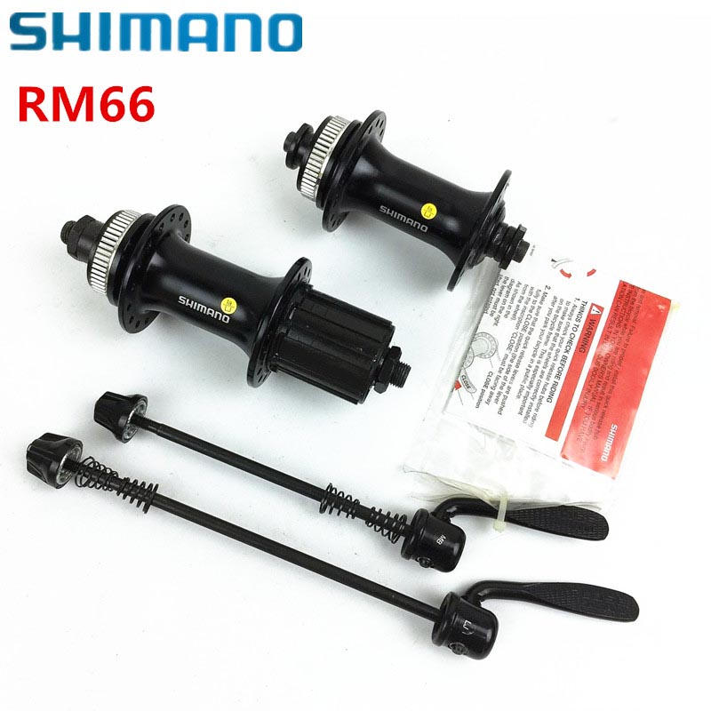 SHIMANO RM66 32-hole quick release bike hub aluminum alloy front and rear bicycle parts black bicycle disc brake bearing