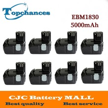 8X High Quality Power Tool Rechargeable Battery For Hitachi EBM1830 327730 BCL1815 DH18DL DS18DL DV18DL 18V 5000mAh Li-ion