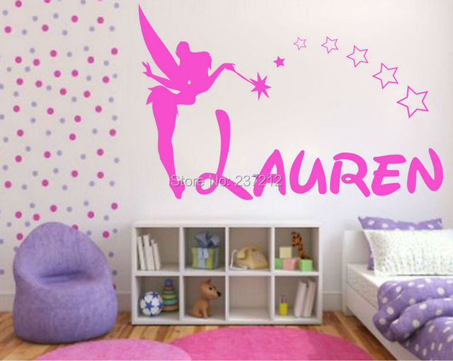 Fairy Wall Art aliexpress : buy personalised girls fairy name wall art