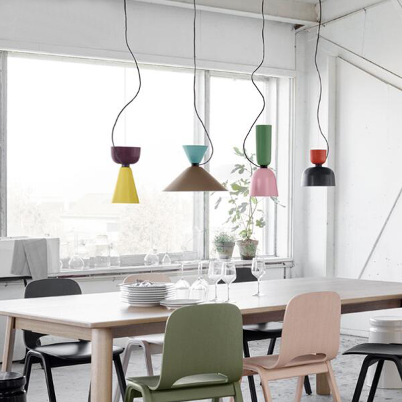цены NEW DIY Colorful simple design can be customized E27 Pendant Light Suspension Drop Lamp Modern Bulbs Bar Restaurant Pendant Lamp