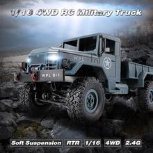 B-1 4WD Off-Road do Carro Do RC 1/16 2.4G RC Rock Crawler Caminhão Militar Do Exército Carro RC Brinquedos Presentes duas Baterias de rádio Controle Remoto