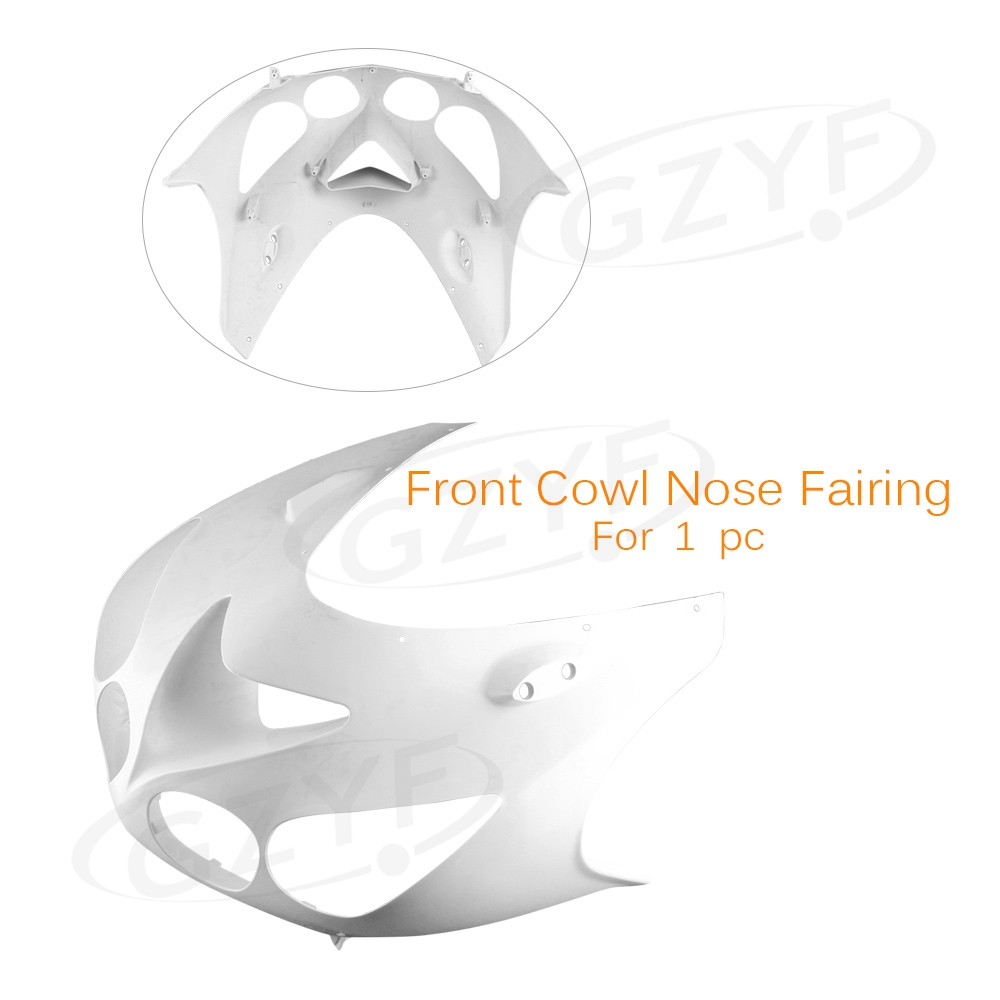 Unpainted Upper Front Cover Cowl Nose Fairing for KAWASAKI 2006-2011 ZX14R, Injection Mold ABS Plastic plastic led light cover mold makers