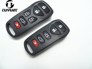 5/6 Buttons Remote Key Shell for Nissan Quest GENISS Replacement Car Key Blanks Case