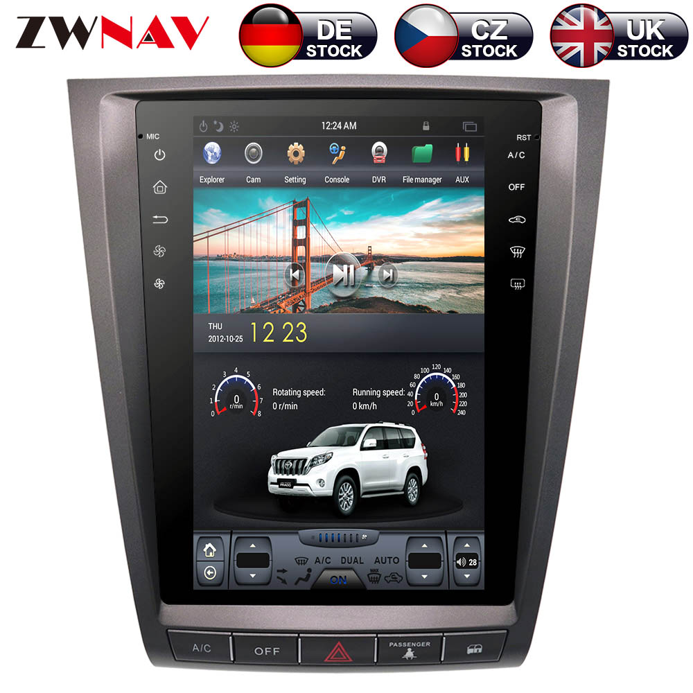 ZWNVA Tesla IPS Screen Android System Car No DVD Player Radio GPS Navigation For lexus GS