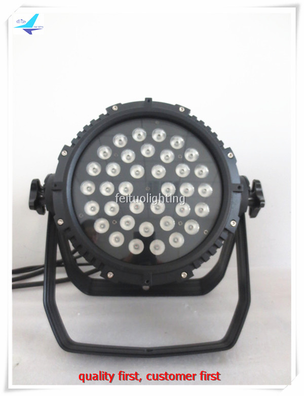 free shipping 2pcs/lot Bright IP65 36x10w Stage Par Can LED Par Light RGBW 4in1 Outdoor Strobe DMX DJ Party Disco Wash Lighting