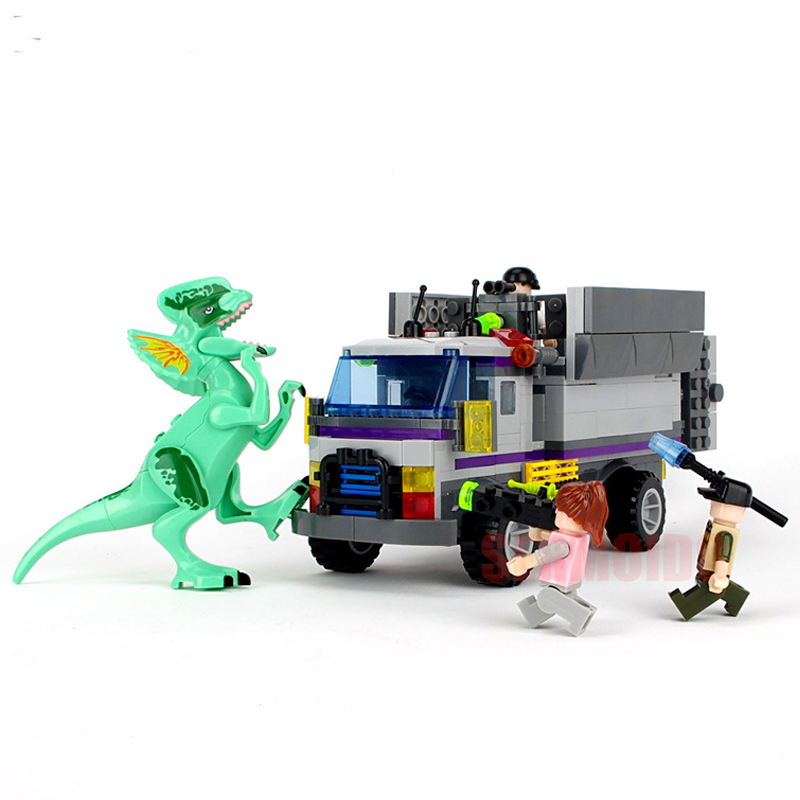 Jurassic Marvel Avengers Super Hero World Dinosaurs Figures Blocks Classic Compatible With Legoings Kids Toys For Children