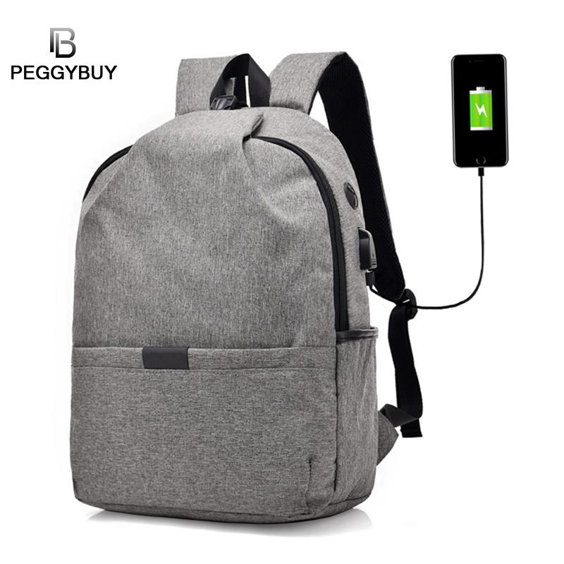 High Quality Unisex Backpacks Men/ Women Canvas Anti Theft Backpack USB Charge 15Inch Laptop Mochila Travel Shoulder Bag fashion canvas men backpack anti theft with usb charging laptop backpacks business unisex knapsack shoulder women travel bags