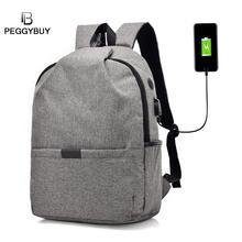 높은 품질 Unisex 배낭 남자 / 여자 캔버스 안티 절도 배낭 USB 충전 15 인치 노트북 Mochila 여행 숄더 백