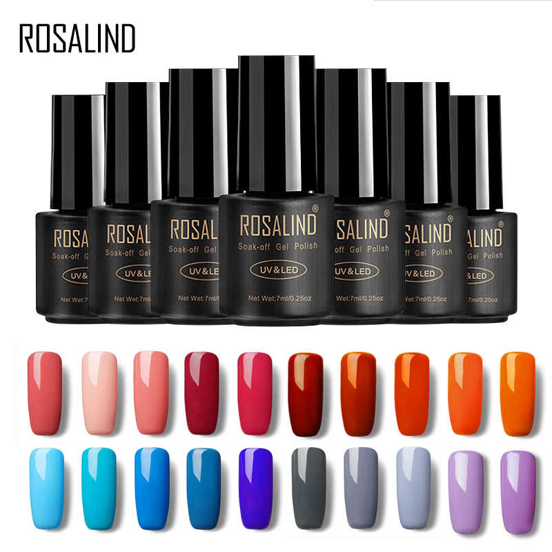 ROSALIND Gel Varnish Nail Polish for Nails Extension 7ML Fresh Color Permanent Soak-off UV Manicure for Nail Art Hybrid Gel