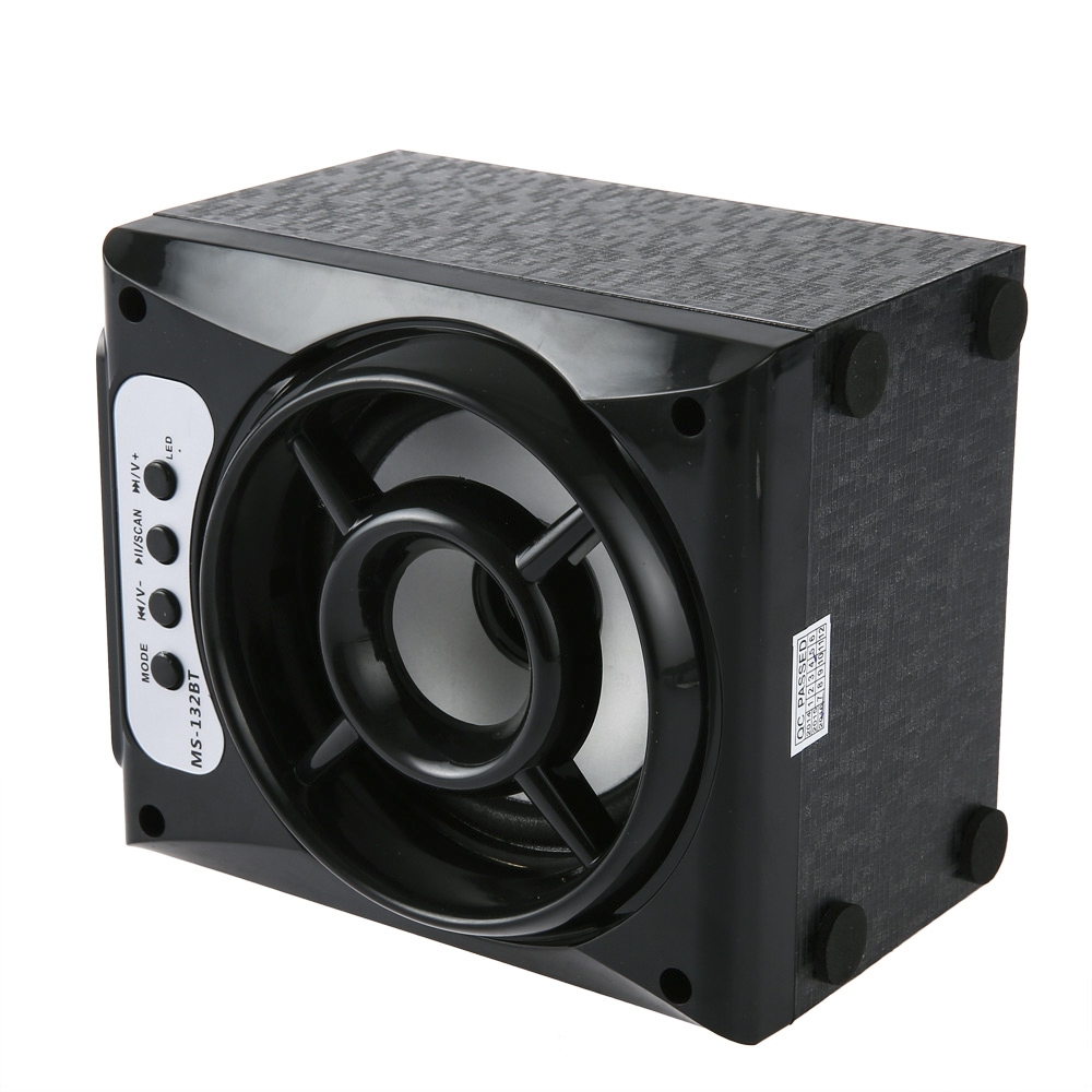 MS-132BT Large Output Wireless Bluetooth Square Speaker With LED lights Support AUX TF Input FM Radio Loudspeaker 600mAh