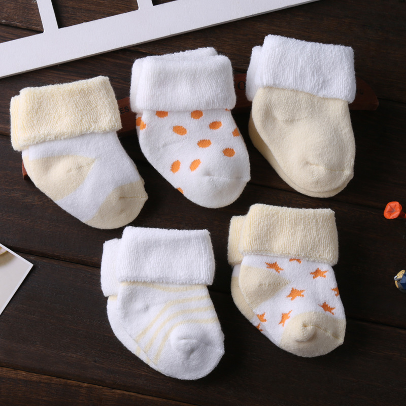 0 3 Years Cute Newborn Baby Winter Socks Warm Soft Pure Cotton Terry Socks For Baby Boys Girls Toddler Floor Anti Slip Sock Babe in Foot Socks from Mother Kids