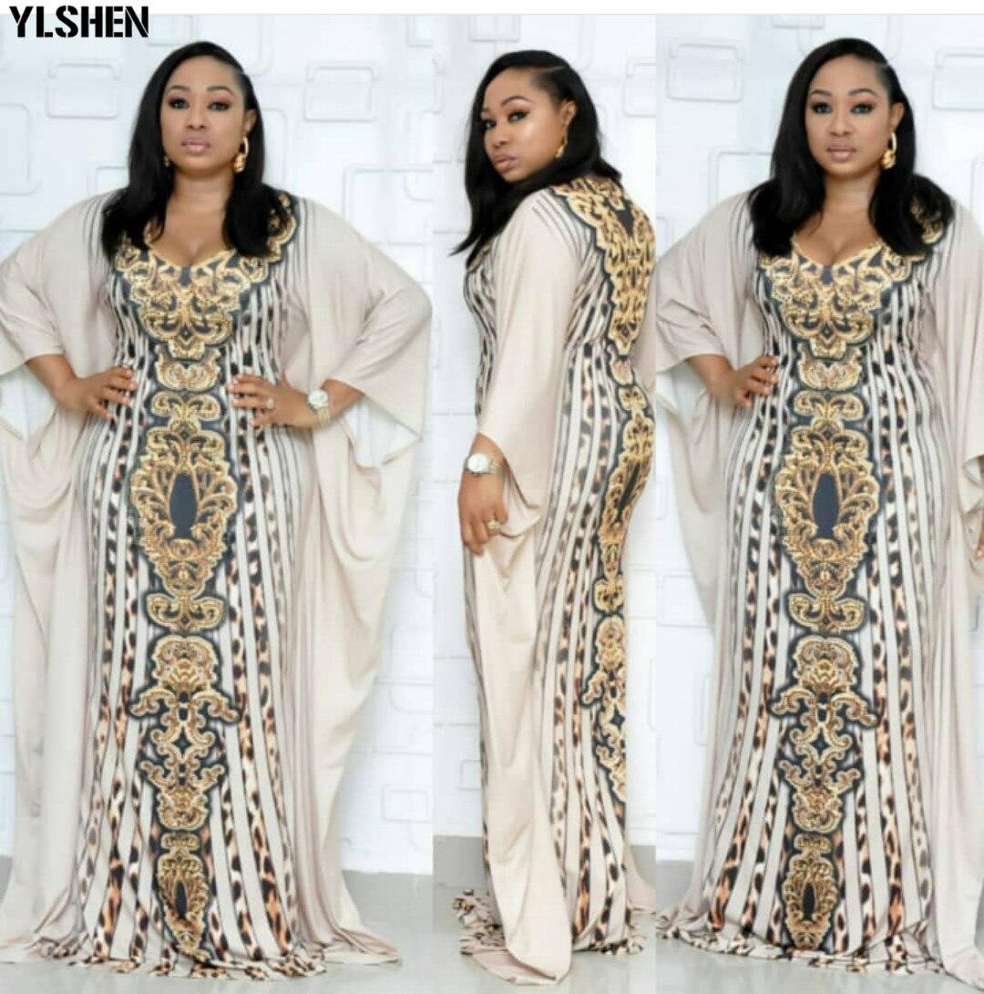 Plus Size African Dresses For Women Dashiki Print African Clothes Bazin Riche Leopard Slim Africa Dress Robe Vetement Femme 2019