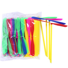10Pcs/ Lot Small Children Outdoor Bamboo Dragonfly Category Toy Gift Fairy Flying Saucer  Arrow