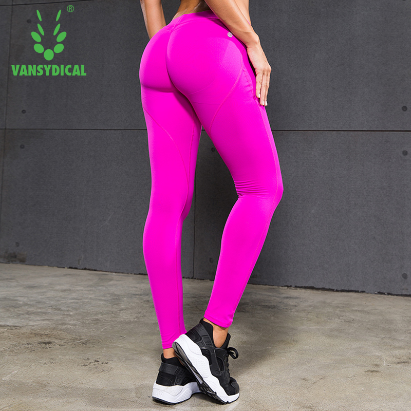 Vansydical Gym Yoga de Sports de Remise En Forme Leggings Femmes Pantalon  Sexy Hanches Push Up Fonctionnant Collants À Séchage Rapide Pantalon de  Jogging ... 59b44658148