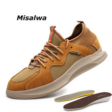 Misalwa Sneakers Men 2019 Summer Mesh 5 CM Invisible Mens Casual Shoes Thick Sole Height Increasing Elevator Loafers  37-44
