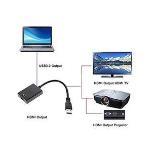 Image 5 - USB3.0 HDMI Multi תצוגת צג HDTV מתאם חיצוני וידאו גרפי כרטיס כבל USB 3.0 כדי HDMI 1080P מתאם כבל ממיר