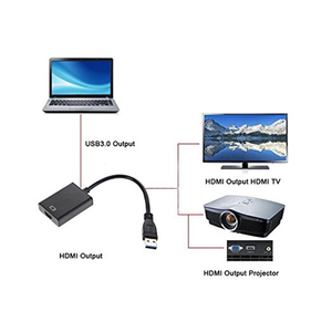 Image 5 - USB3.0 HDMI Multi Monitor Display HDTV Adaptor External Video Graphic Card Cable USB 3.0 to HDMI 1080P Adapter Cable Converter