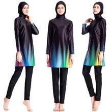 f09959a6f2 Muslim Women Hijab Swimsuit Modest Swimwear Full Cover Beachwear Swim  Burkini 3pcs Islamic Burkini Bathing Suits Conservative