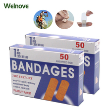 50pcs/1Box First aid bandage hemostatic medical disposable waterproof Band-Aid with a sterile gauze pad first Z13401