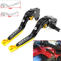 Motorcycle CNC Adjustable Foldable brake Clutch Levers for Suzuki GSXR1000 2009 2010 2011 2015 2016 2017 with Logo(GSXR1000)