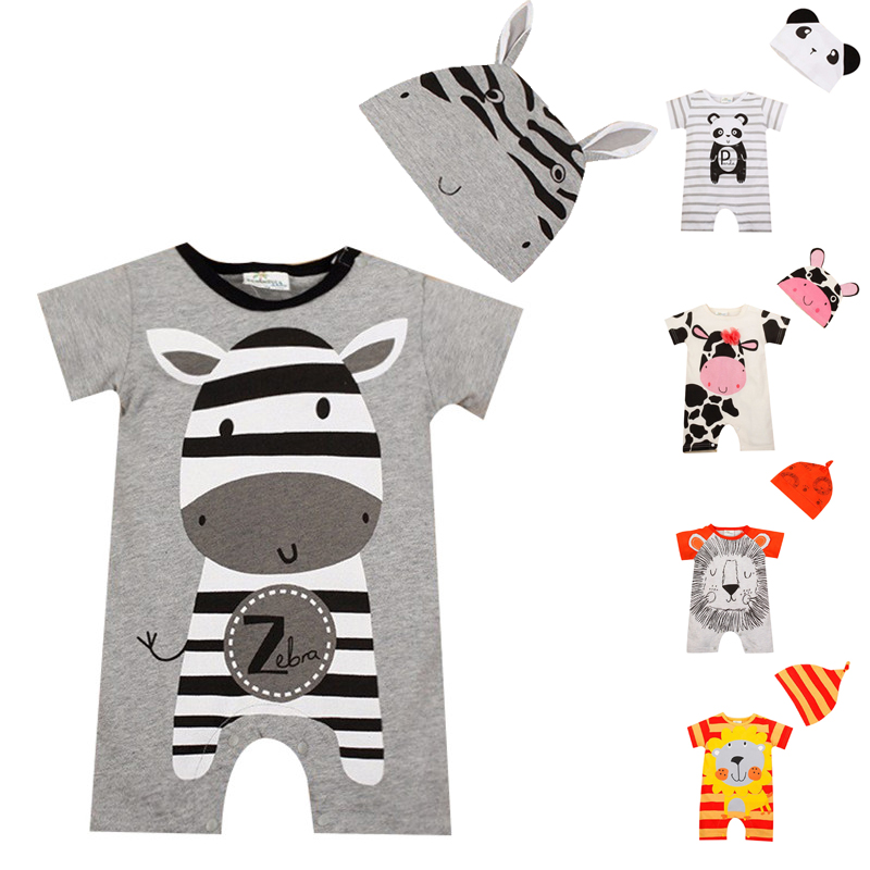 Baby Rompers 2017 Summer Baby Girl Clothing Sets Cartoon Baby Boys Clothes Newborn Baby Clothes Roupas Bebe Infant Jumpsuit summer cotton baby rompers boys infant toddler jumpsuit princess pink bow lace baby girl clothing newborn bebe overall clothes