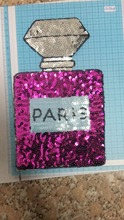 DD The new floral 15*24.5 cm 2 color perfume bottles can be stitched or ironed on the clothes, shoes, bags, pants and patches.
