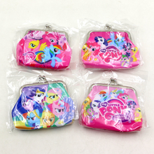 Happy Birthday Party Kids Favors Gift PVC Money Bags My Little Pony Coin Purse Baby Shower Decoration Events Supplies 1pcslot