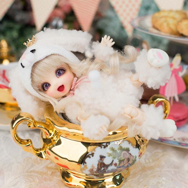 2018 New Arrival 1/8 BJD Doll BJD/SD BB Cute PongPong Doll With Free Eyes For Baby Girl Gift  3