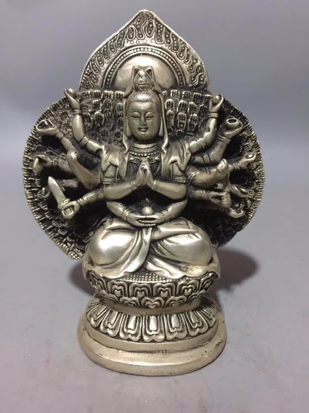 Art Collection Tibet Silver handmade Avalokitesvara Bodhisattva statue,Home/office desk decoration Guan yin sculpture 002Art Collection Tibet Silver handmade Avalokitesvara Bodhisattva statue,Home/office desk decoration Guan yin sculpture 002